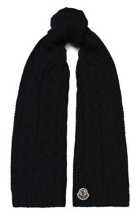 Детский шерстяной шарф MONCLER ENFANT синего цвета, арт. E2-954-00016-05-04S02 | Фото 1