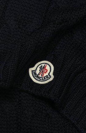 Детский шерстяной шарф MONCLER ENFANT синего цвета, арт. E2-954-00016-05-04S02 | Фото 2