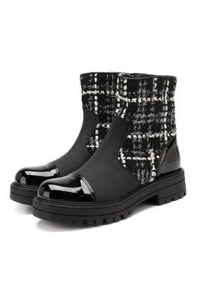 Детские ботинки MISSOURI черного цвета, арт. 85839M/35-41 | Фото 1