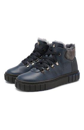 Детские кожаные ботинки MISSOURI синего цвета, арт. 4724 D/18-26 | Фото 1