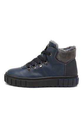 Детские кожаные ботинки MISSOURI синего цвета, арт. 4724 D/18-26 | Фото 2