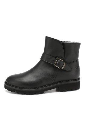 Детские утепленные ботинки из кожи MISSOURI черного цвета, арт. 41230 A/35-41 | Фото 2