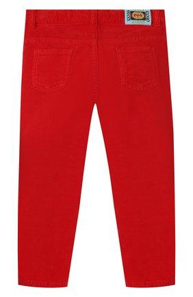 Детские хлопковые брюки GUCCI красного цвета, арт. 566100/XDAN0 | Фото 2