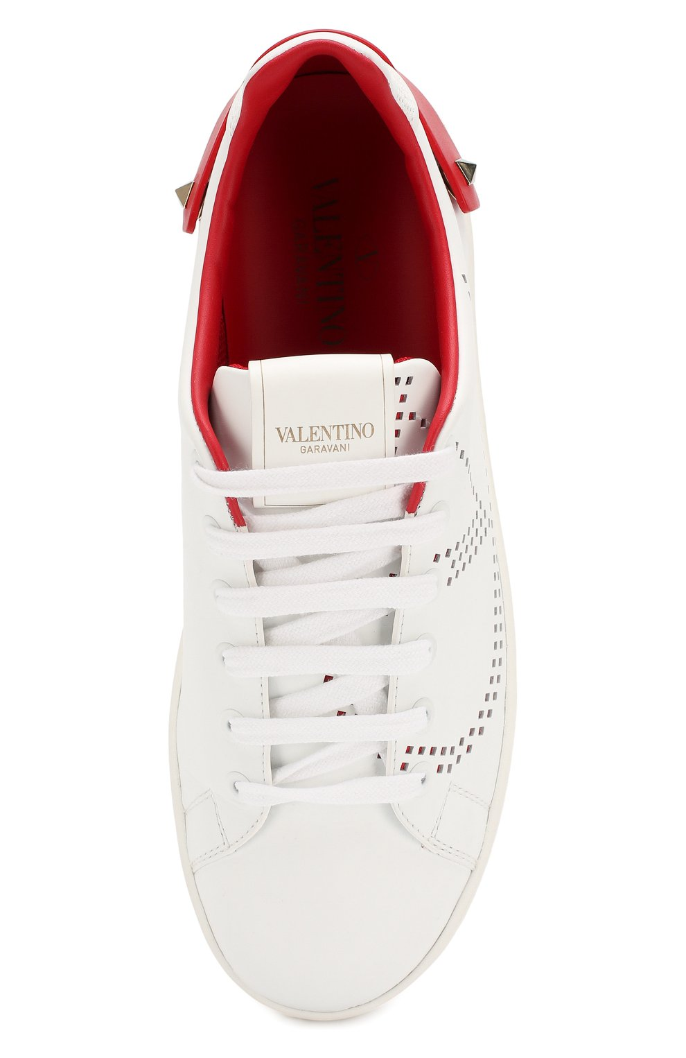 Кожаные кеды Valentino Garavani Net | Фото №5