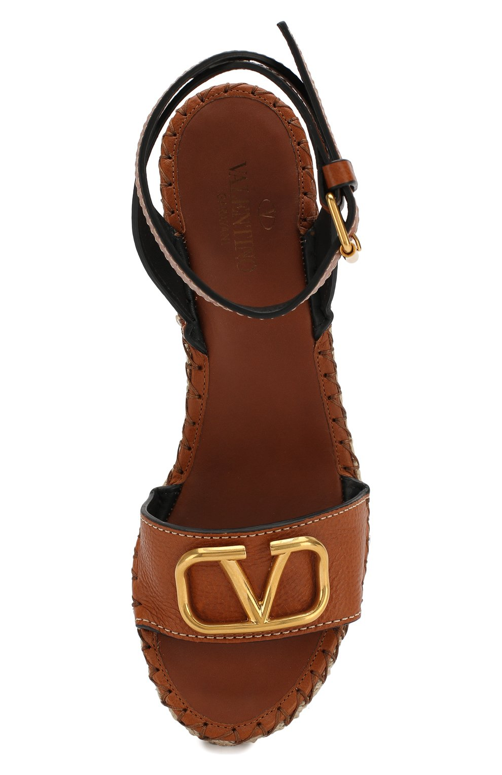Кожаные босоножки Valentino Garavani Go Logo | Фото №5