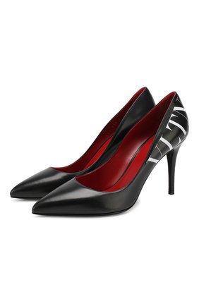 Кожаные туфли Valentino Garavani VLTN | Фото №1