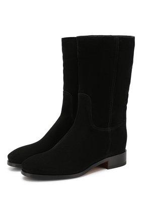 Женские замшевые сапоги SANTONI черного цвета, арт. WSEH57520BJ2CAEAN01 | Фото 1