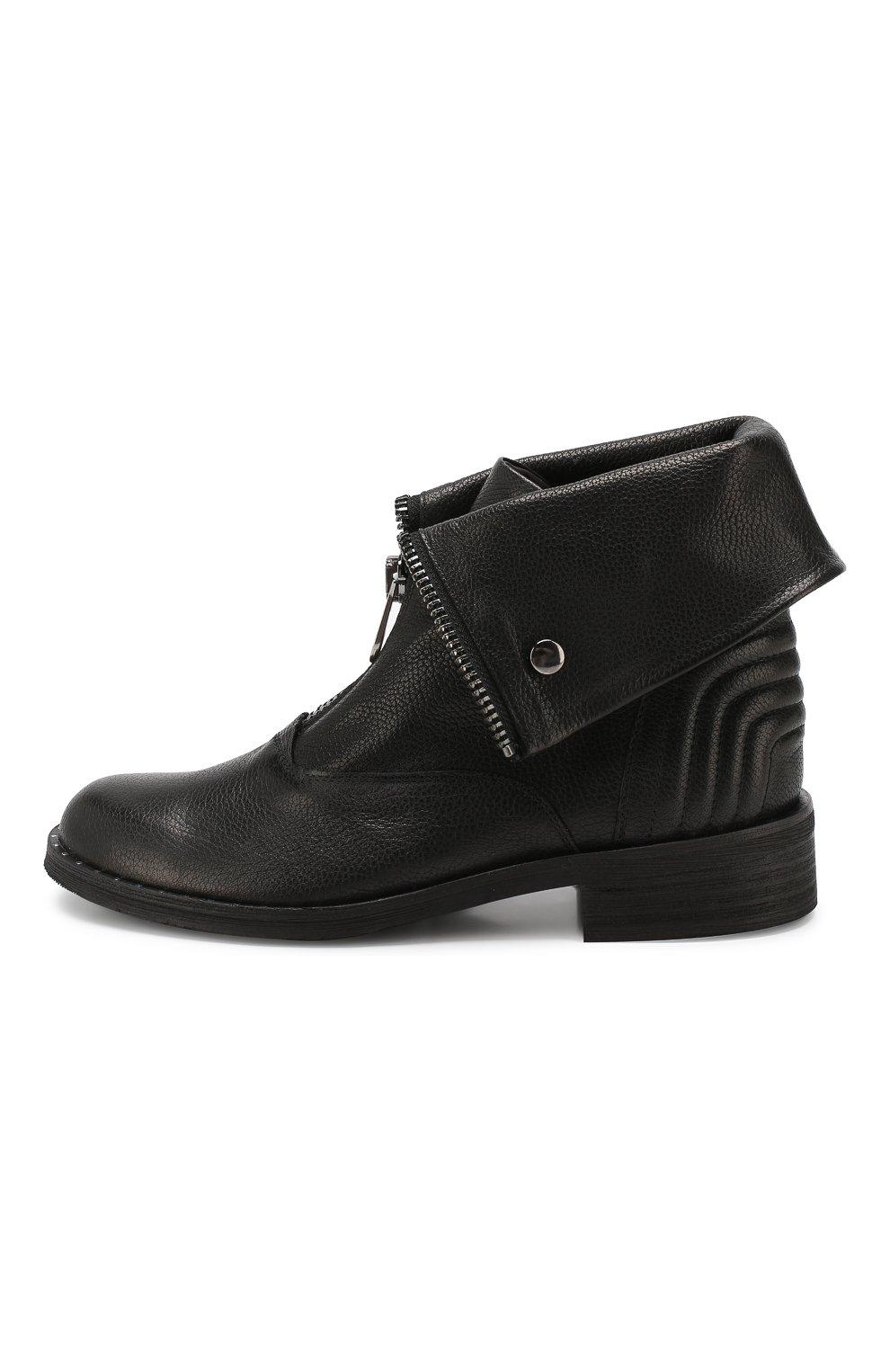 Женские кожаные ботинки PERTINI черного цвета, арт. 192W15979D5 | Фото 3