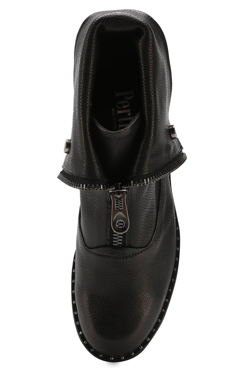 Женские кожаные ботинки PERTINI черного цвета, арт. 192W15979D5 | Фото 5