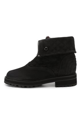 Женские замшевые ботинки PERTINI темно-серого цвета, арт. 192W16082C1   Фото 3