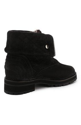 Женские замшевые ботинки PERTINI темно-серого цвета, арт. 192W16082C1   Фото 4