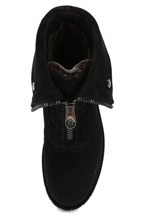 Женские замшевые ботинки PERTINI темно-серого цвета, арт. 192W16082C1   Фото 5