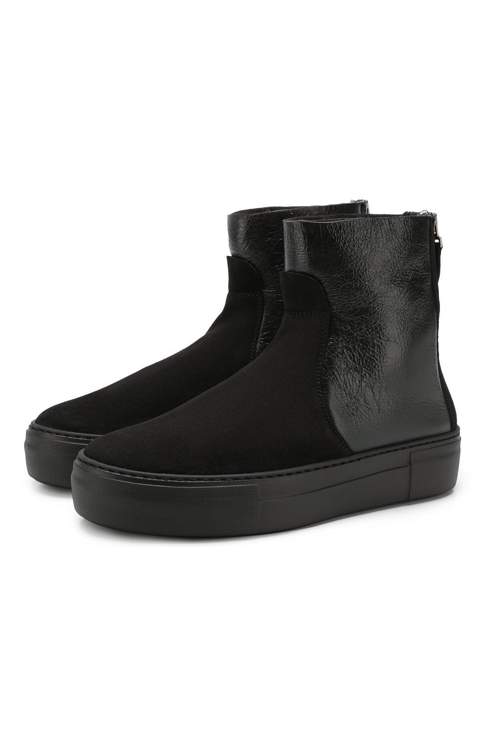 Женские комбинированные ботинки PERTINI черного цвета, арт. 192W16270D2 | Фото 1