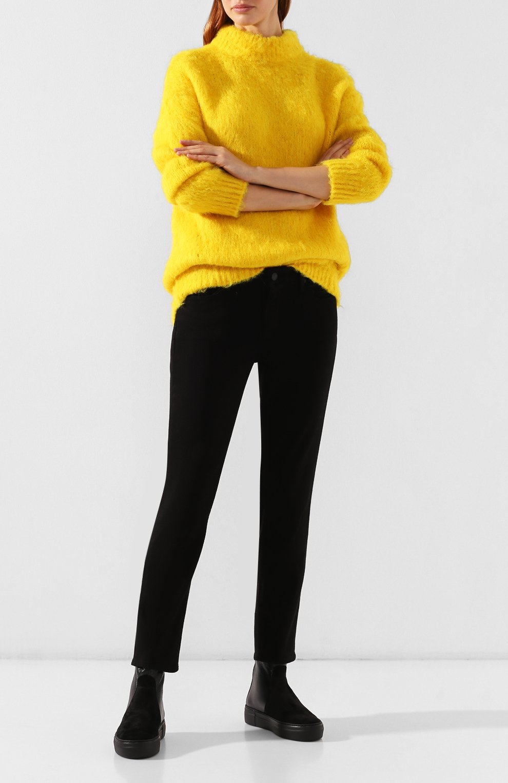 Женские комбинированные ботинки PERTINI черного цвета, арт. 192W16270D2 | Фото 2
