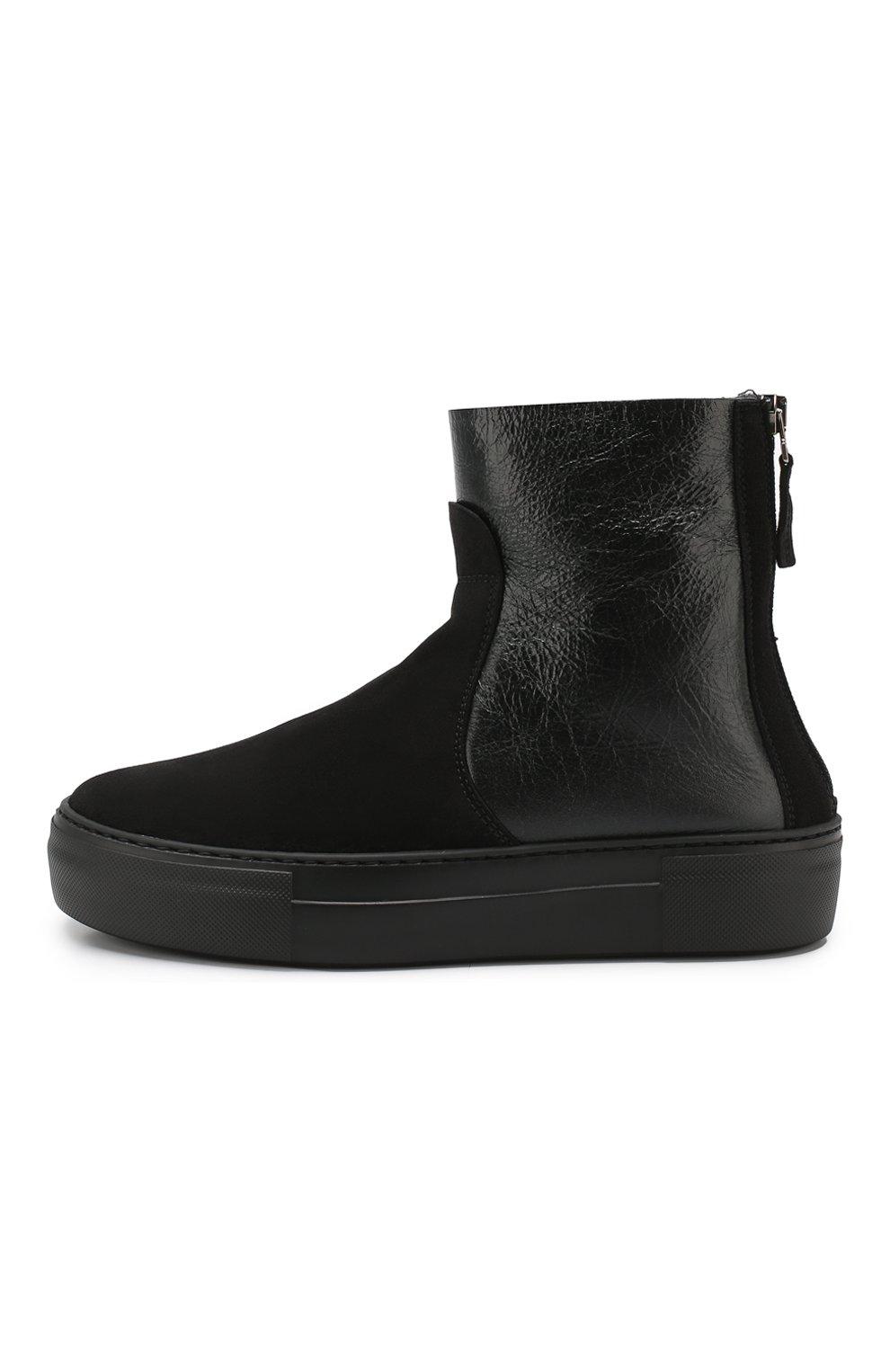 Женские комбинированные ботинки PERTINI черного цвета, арт. 192W16270D2 | Фото 3
