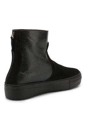 Женские комбинированные ботинки PERTINI черного цвета, арт. 192W16270D2 | Фото 4