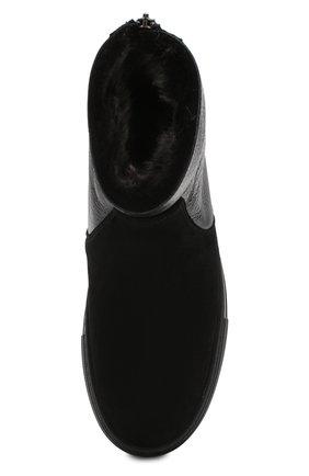 Женские комбинированные ботинки PERTINI черного цвета, арт. 192W16270D2 | Фото 5