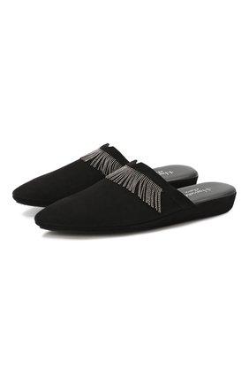 Замшевые домашние туфли | Фото №1