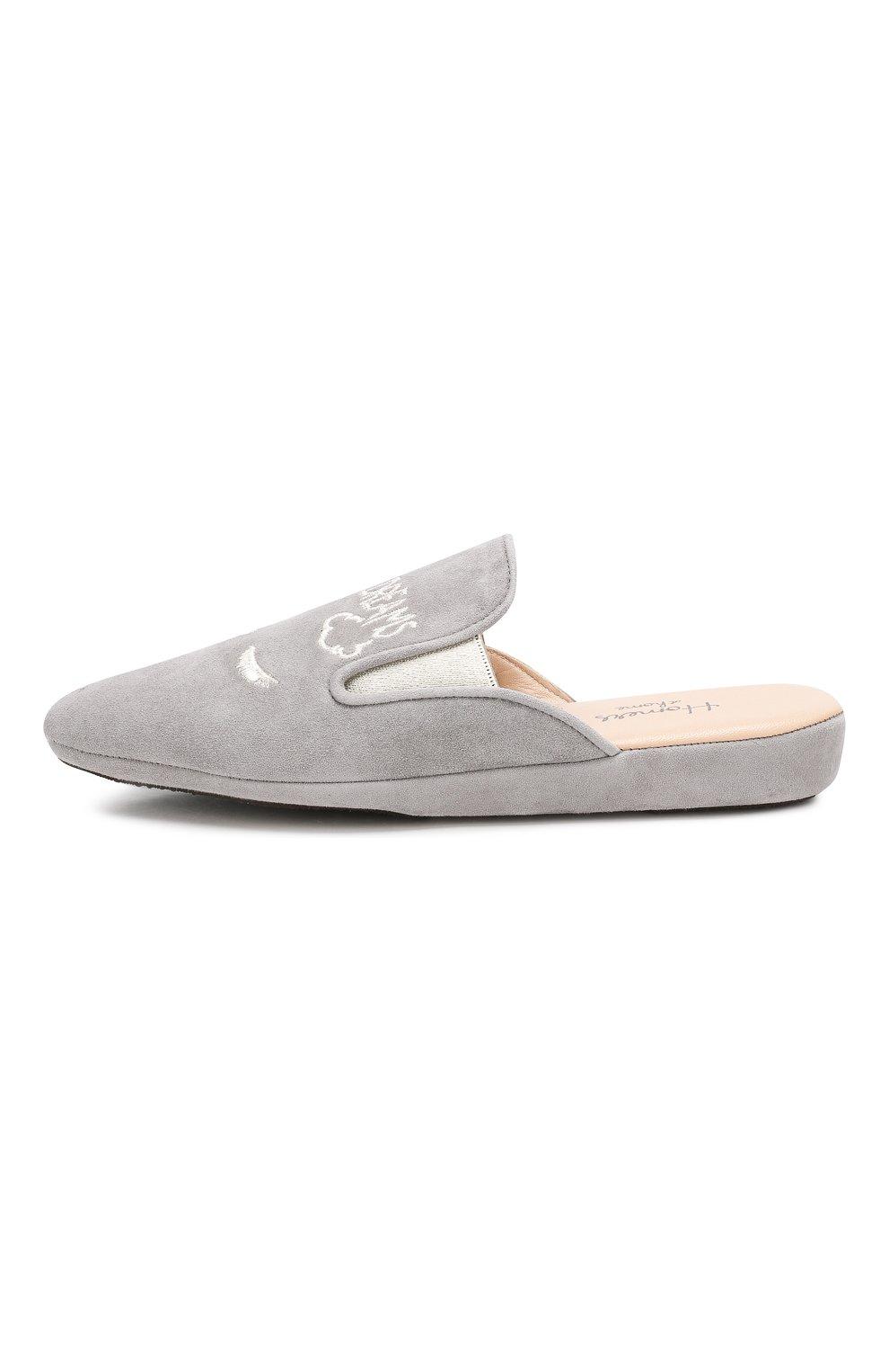 Замшевые домашние туфли | Фото №3