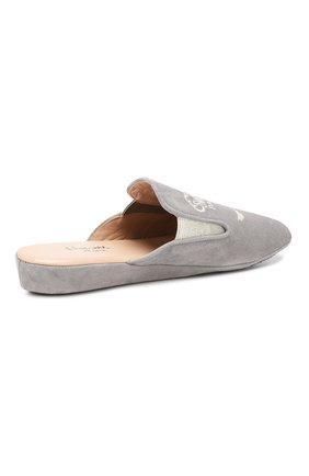 Замшевые домашние туфли | Фото №4