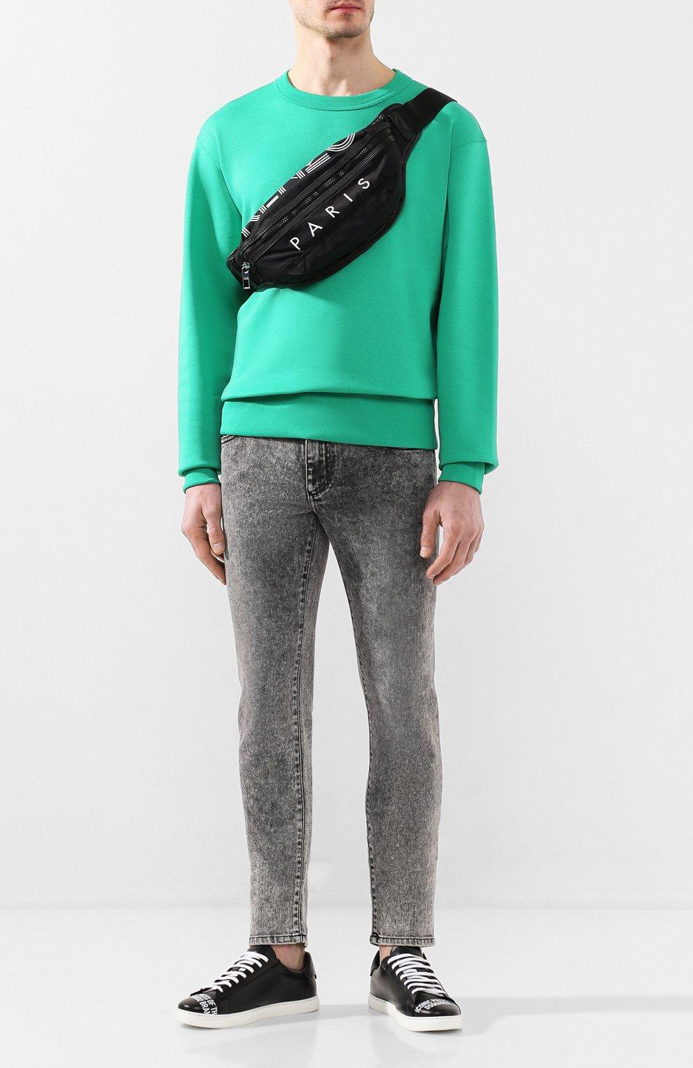 Мужская текстильная поясная сумка KENZO черного цвета, арт. F855SF212F24 | Фото 2