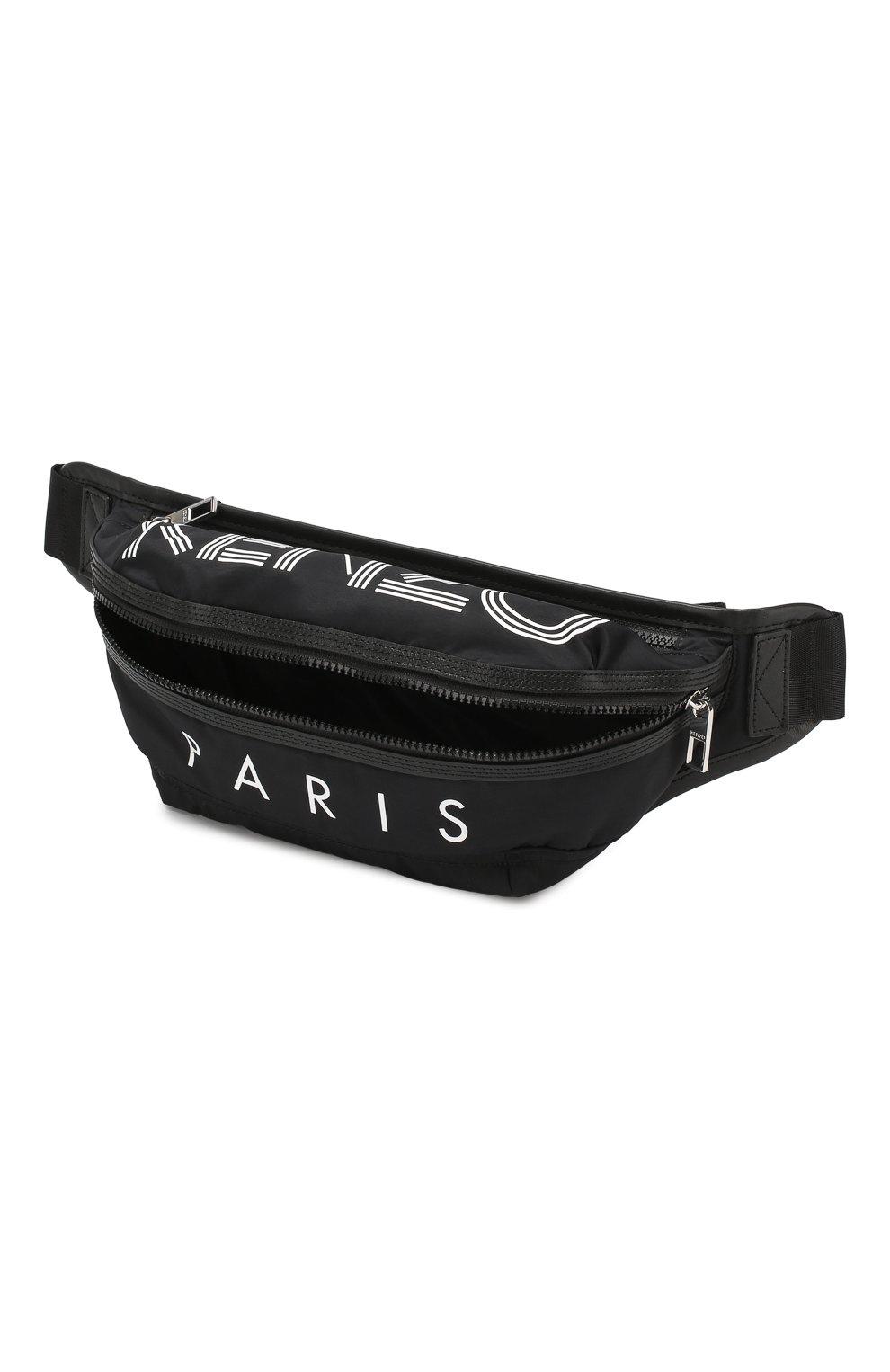 Мужская текстильная поясная сумка KENZO черного цвета, арт. F855SF212F24 | Фото 4