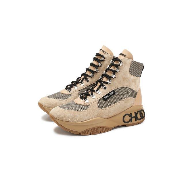 Замшевые кроссовки Inca Jimmy Choo — Замшевые кроссовки Inca