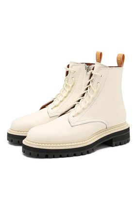 Женские кожаные ботинки PROENZA SCHOULER белого цвета, арт. PS29042B/08226 | Фото 1
