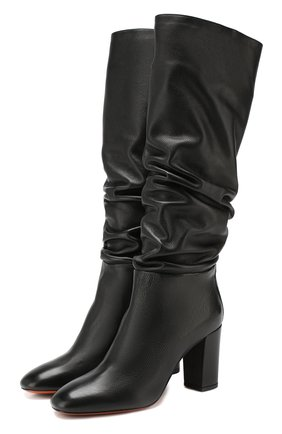 Женские кожаные сапоги SANTONI черного цвета, арт. WST058038HI2CGHYN01 | Фото 1