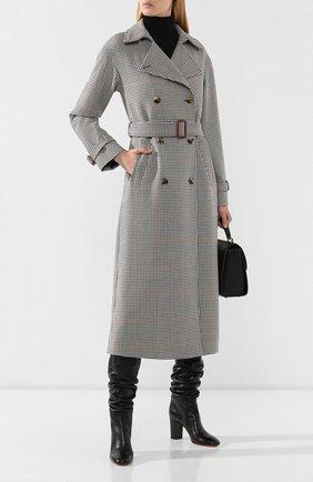 Женские кожаные сапоги SANTONI черного цвета, арт. WST058038HI2CGHYN01 | Фото 2
