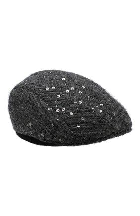 Женская кепи BRUNELLO CUCINELLI темно-серого цвета, арт. MCAP90113 | Фото 1