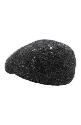 Женская кепи BRUNELLO CUCINELLI темно-серого цвета, арт. MCAP90113 | Фото 2
