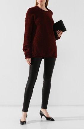 Женские кожаные брюки HELMUT LANG черного цвета, арт. G06HW240 | Фото 2