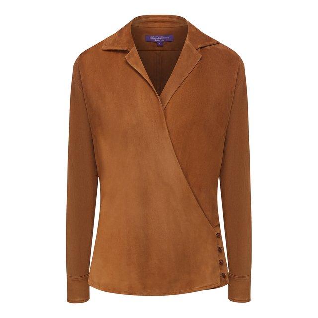 Замшевая блузка Ralph Lauren