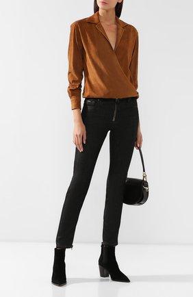 Женская замшевая блузка RALPH LAUREN коричневого цвета, арт. 290759635 | Фото 2