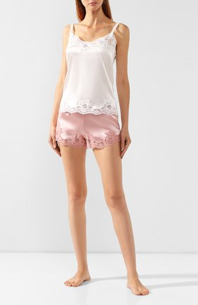 Женские шелковые шорты DOLCE & GABBANA розового цвета, арт. 03A02T/FUAD8 | Фото 2