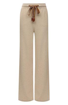 Женские кашемировые брюки LORO PIANA светло-серого цвета, арт. FAI7258   Фото 1