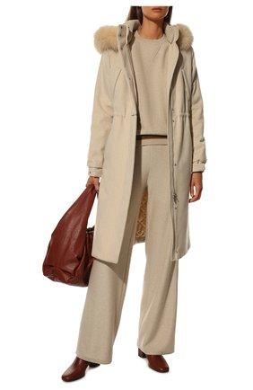 Женские кашемировые брюки LORO PIANA светло-серого цвета, арт. FAI7258   Фото 2