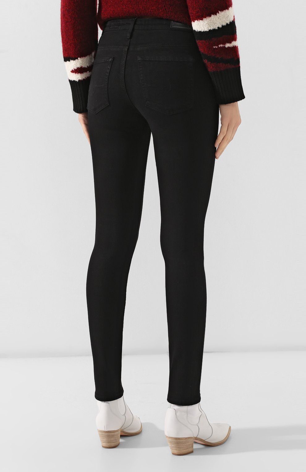 Женские джинсы AG черного цвета, арт. SPB1434/SBA | Фото 4
