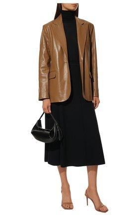 Женская кашемировая юбка LORO PIANA темно-синего цвета, арт. FAI6692 | Фото 2