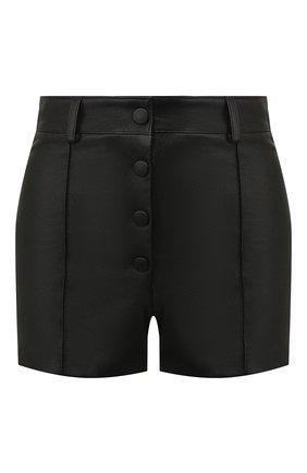 Женские кожаные шорты VALENTINO черного цвета, арт. SB3NH01L45H | Фото 1