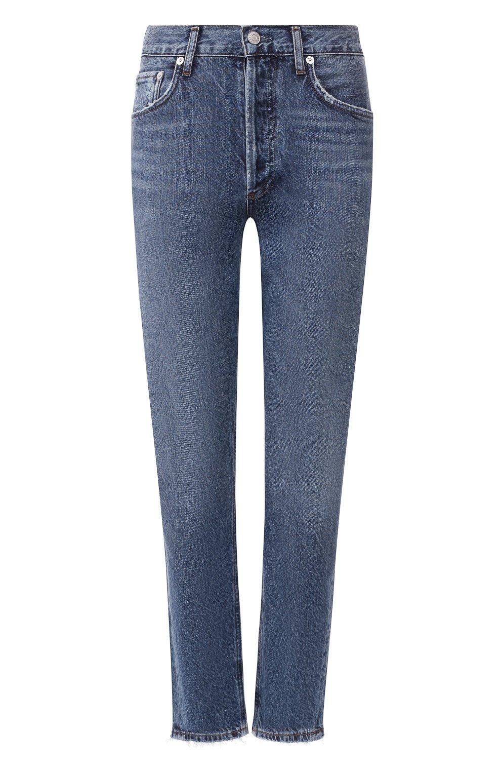 Женские джинсы AGOLDE синего цвета, арт. A045B-1139   Фото 1