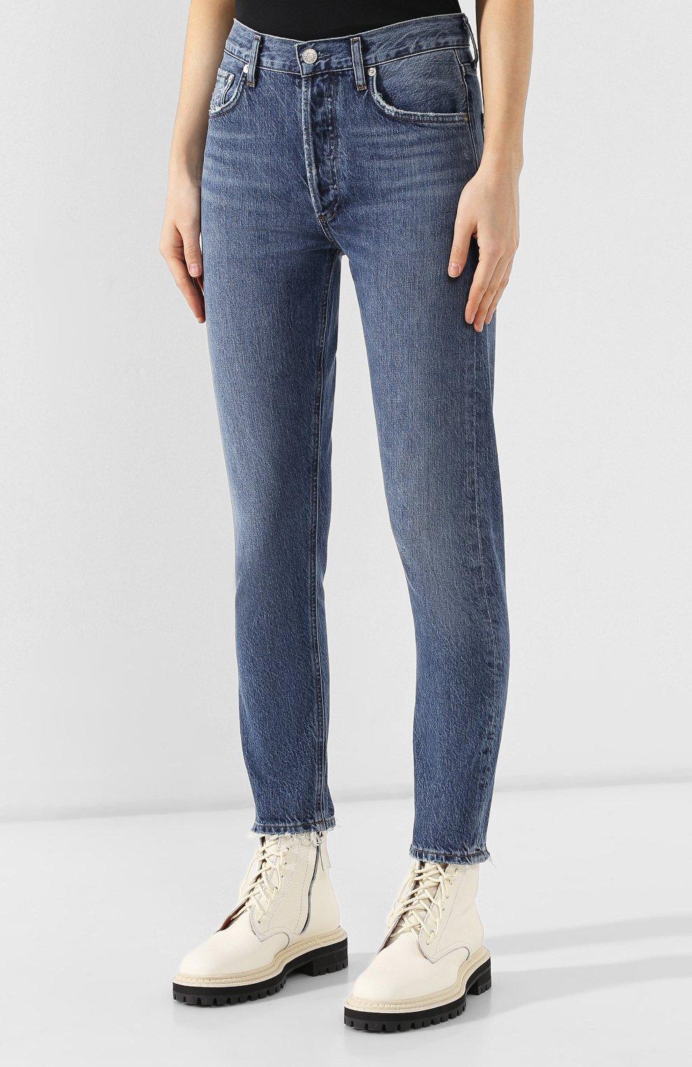 Женские джинсы AGOLDE синего цвета, арт. A045B-1139   Фото 3