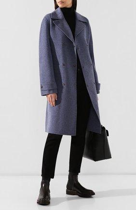 Женское пальто из смеси шерсти и кашемира THEORY синего цвета, арт. J0601405 | Фото 2
