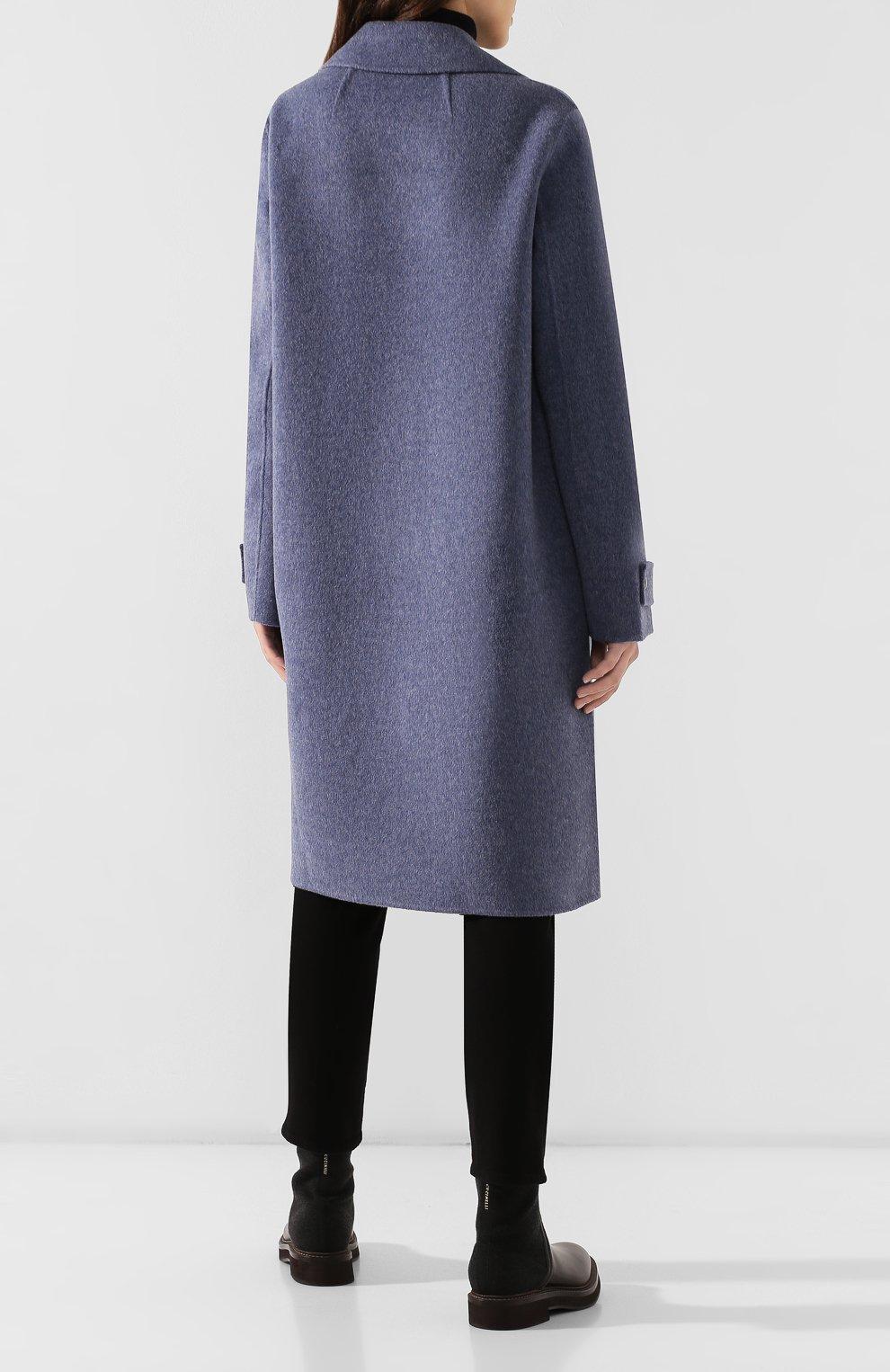 Женское пальто из смеси шерсти и кашемира THEORY синего цвета, арт. J0601405 | Фото 4