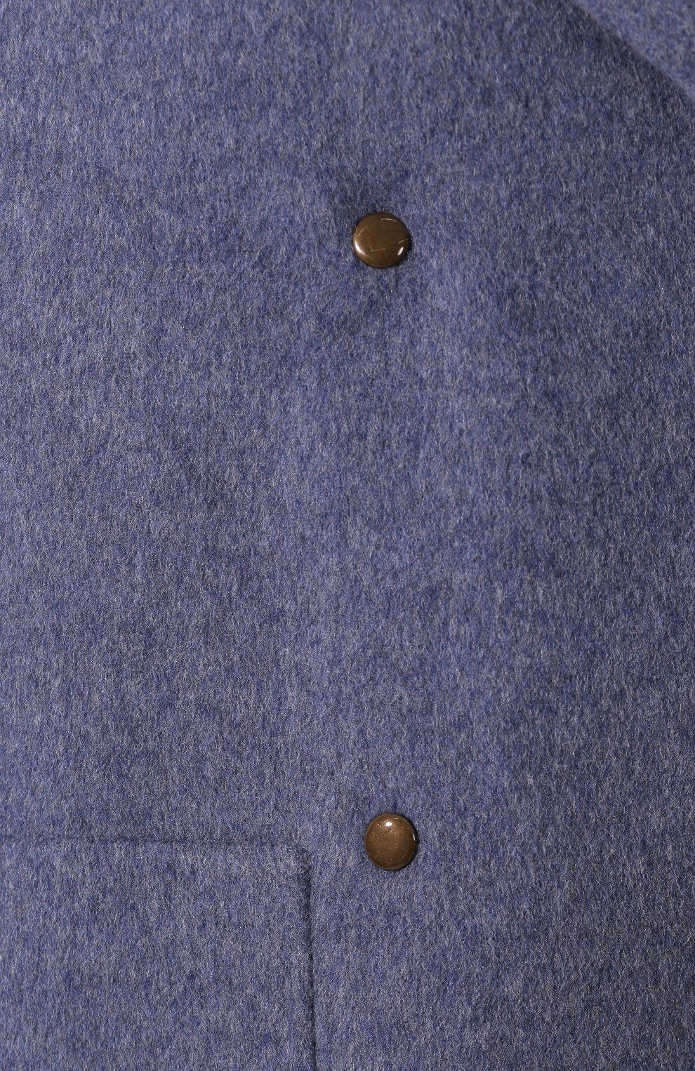 Женское пальто из смеси шерсти и кашемира THEORY синего цвета, арт. J0601405 | Фото 5