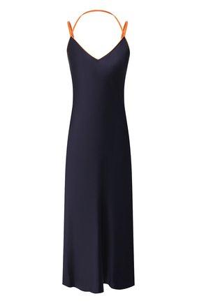 Женское платье из вискозы HELMUT LANG темно-синего цвета, арт. J05HW606 | Фото 1