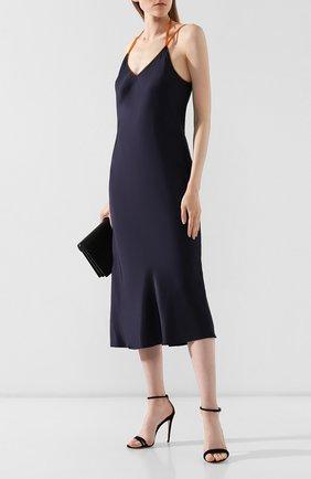 Женское платье из вискозы HELMUT LANG темно-синего цвета, арт. J05HW606 | Фото 2