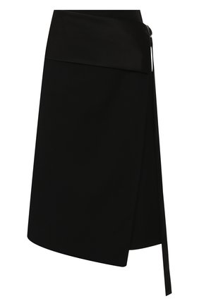 Женская шерстяная юбка HELMUT LANG черного цвета, арт. J05HW303 | Фото 1