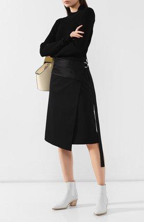 Женская шерстяная юбка HELMUT LANG черного цвета, арт. J05HW303 | Фото 2